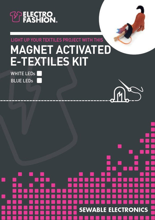 Electro-Fashion Magnet Activated E-Textiles Kit
