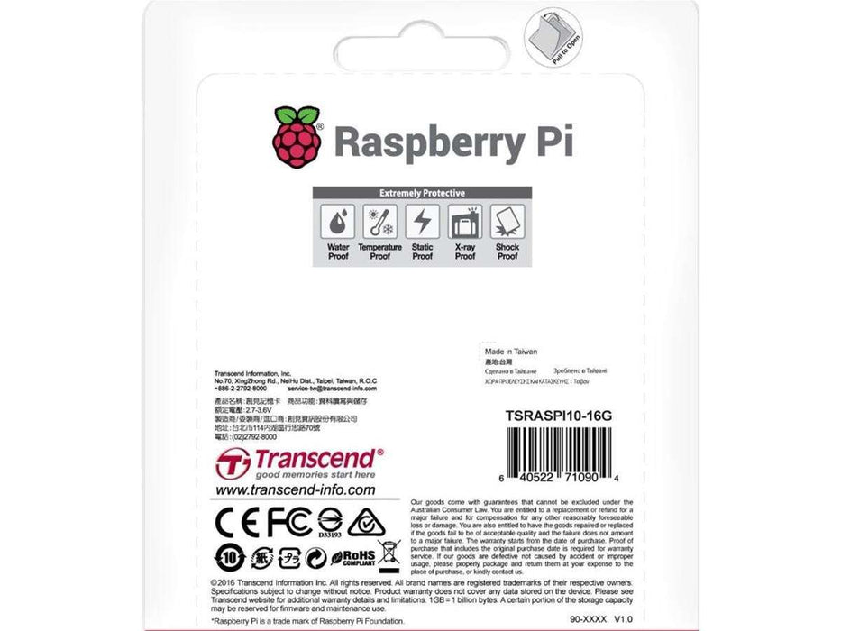SD Card - Pre installed (NOOBs) Raspberry Pi 3, Integral 16GB Class (10 pk + adapter)