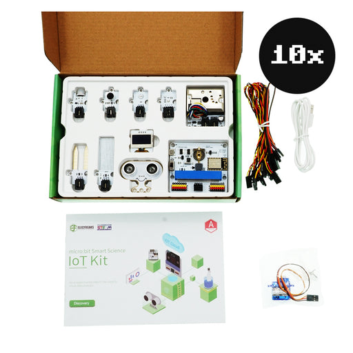ElecFreaks micro:bit Smart Science IoT Kit Club Bundle (5 prosjekter) (10 stk uten micro:bit)