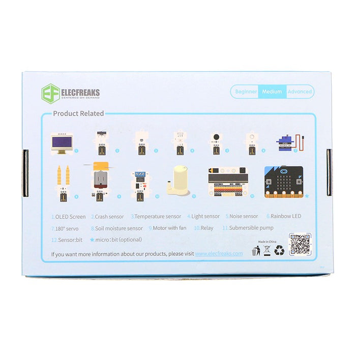 ElecFreaks micro:bit Smart Home Kit Club Bundle (5 prosjekter) (10 stk med micro:bit)