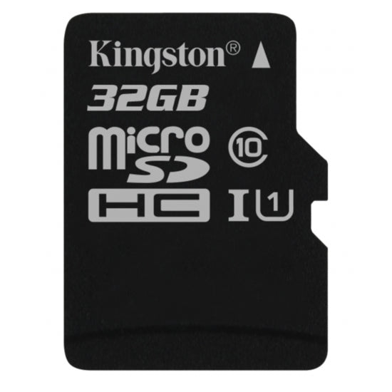 Kingston 32GB microSD Canvas Select, Class 10 + SD adapter