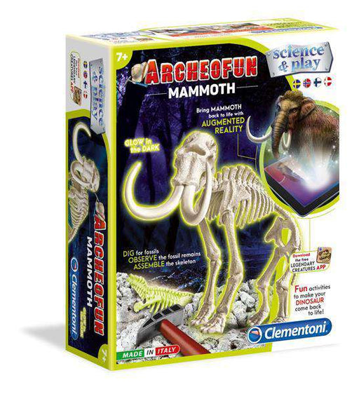 Clementoni DIG LINE: Mammut - Glow in the dark