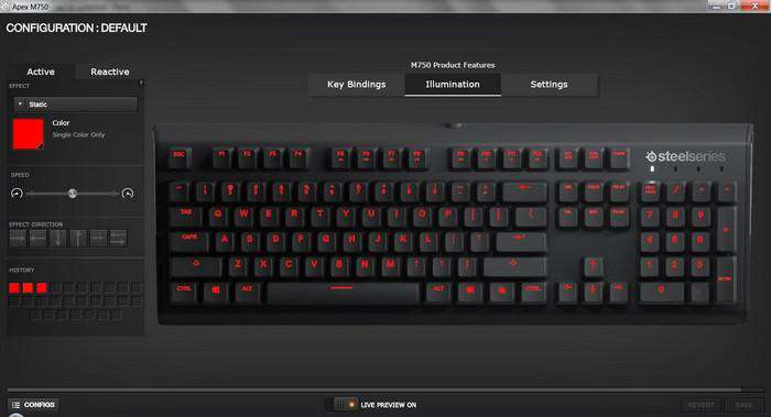 SteelSeries Apex M750 TKL Mechanical Gaming tastatur (Nordic Layout)