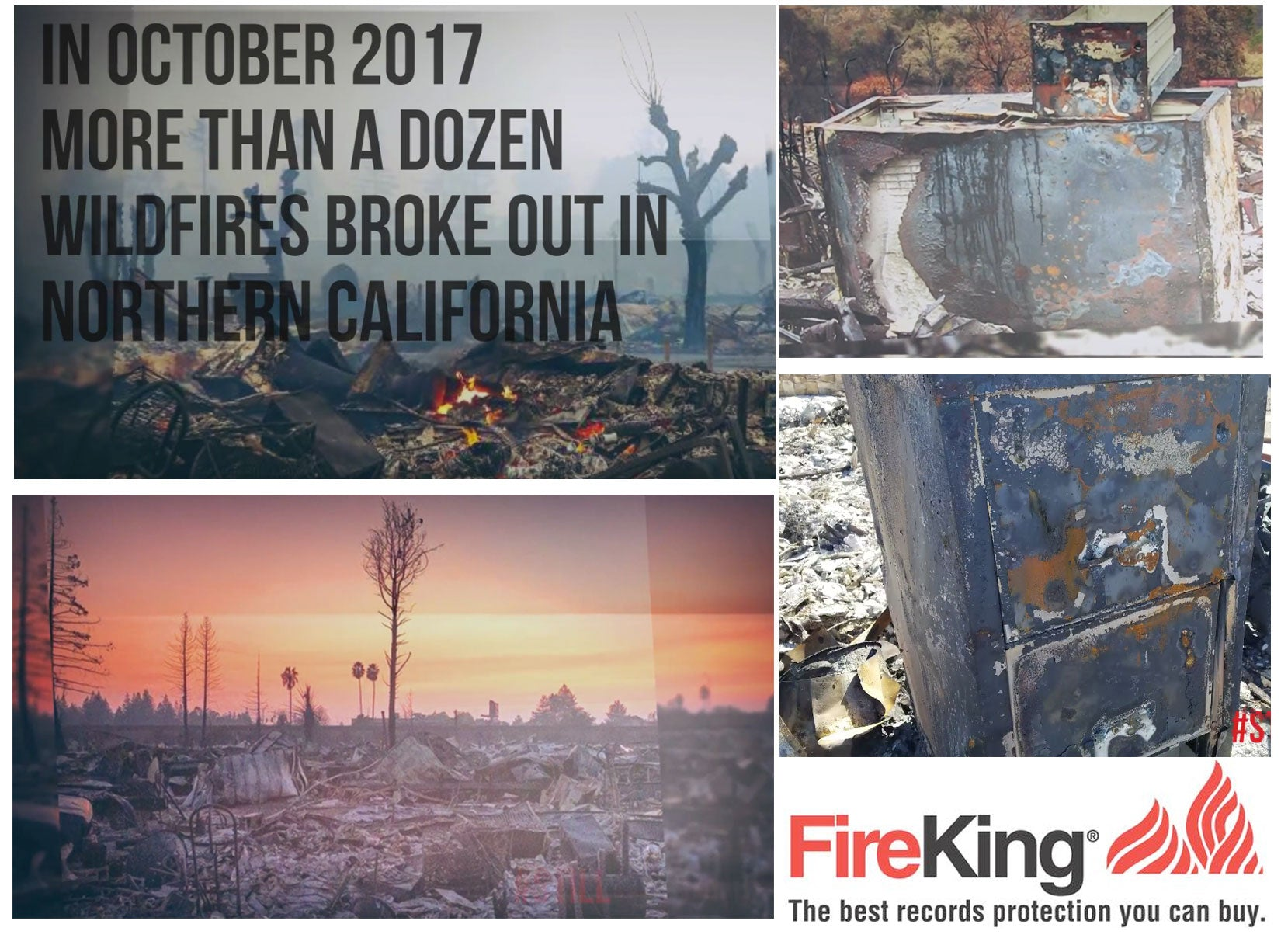 California Wildfires FireKing Safes