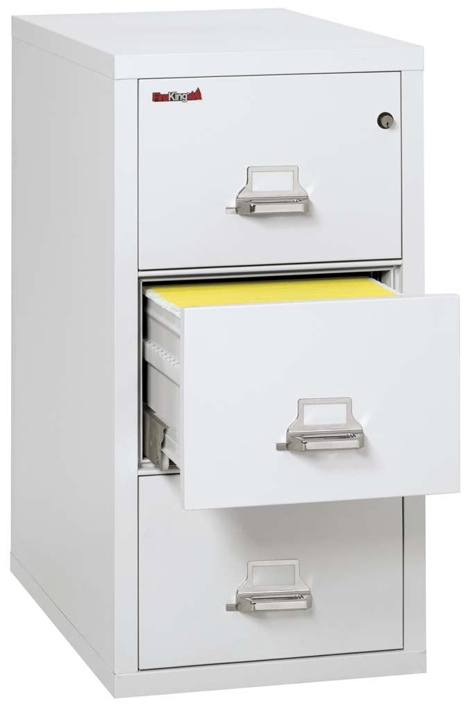"FireKing 3-2131-C Three Drawer 31"" Deep Vertical Legal Size File Cabinet"