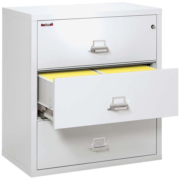 "FireKing 3-3822-C Three Drawer 38"" Lateral Fireproof File Cabinet"