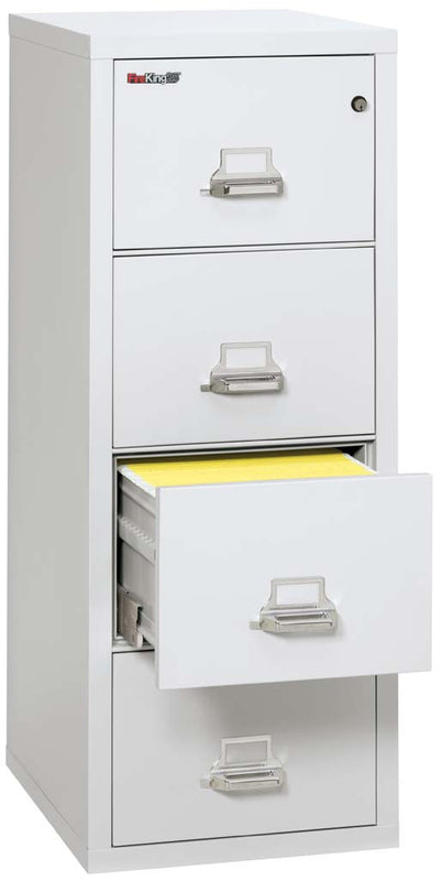 FireKing C Four Drawer Deep Vertical Letter Size File - File cabinet size