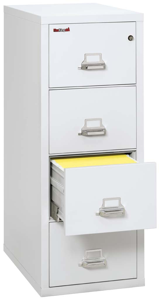 "FireKing 4-1831-C Four Drawer 31"" Deep Vertical Letter Size File Cabinet"