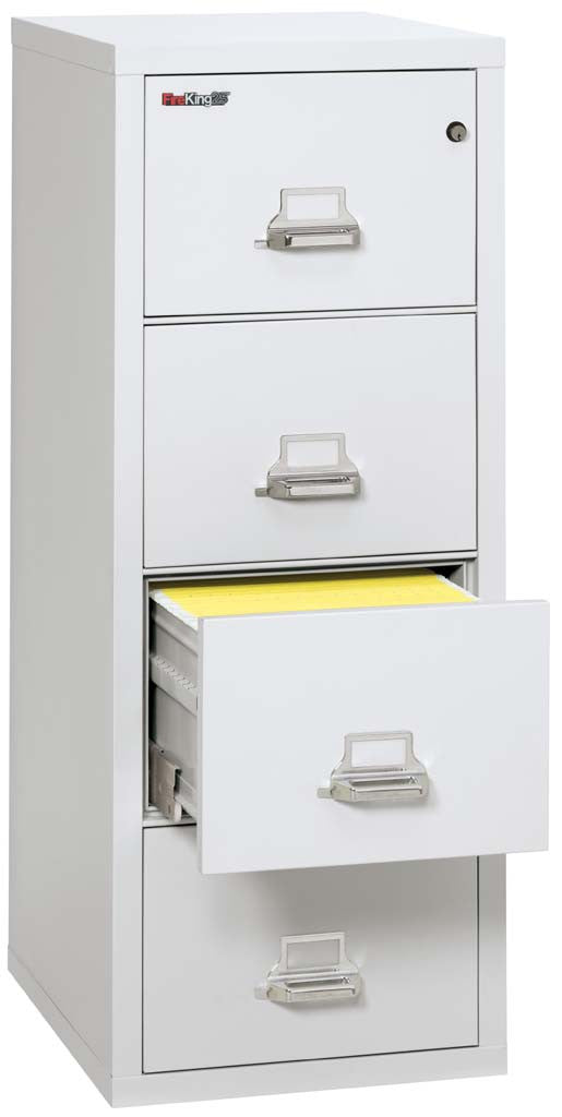 "FireKing 4-2125-C Four Drawer 25"" Deep Vertical Legal Size File Cabinet"