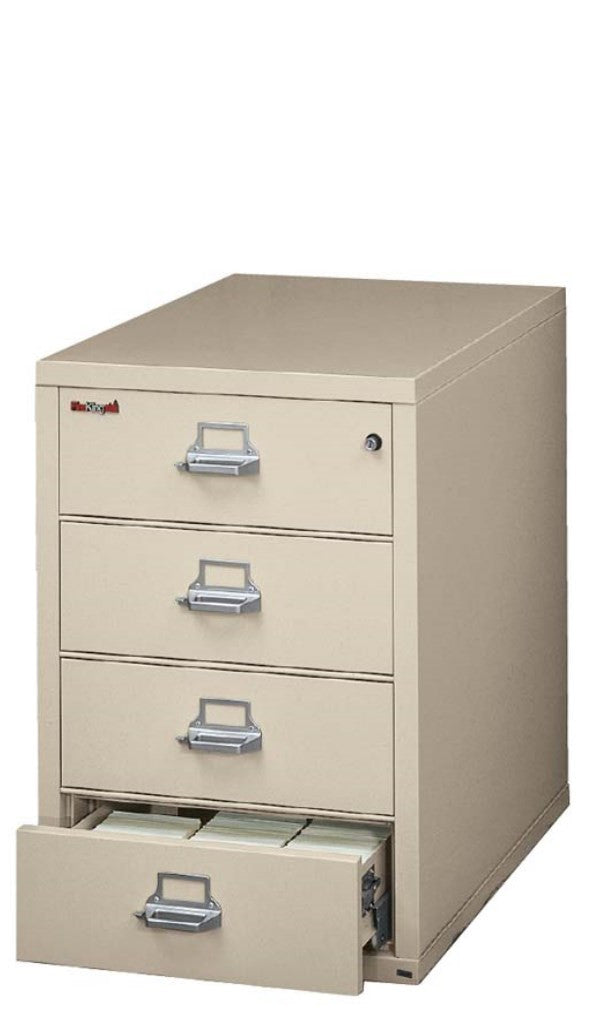 fireking 42536c fireproof four drawer card check and note filing cabinet