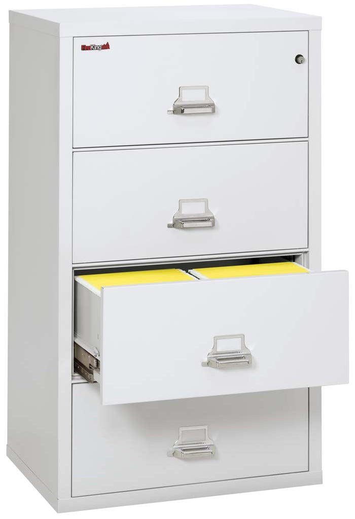 "FireKing 4-3122-C Four Drawer 31"" Lateral Fireproof File Cabinet"