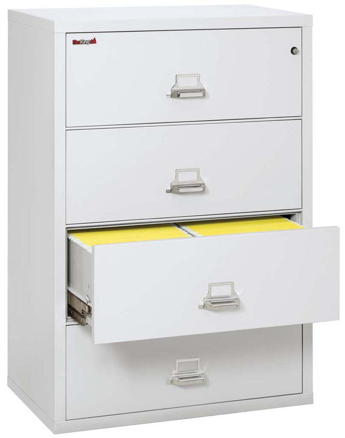 "FireKing 4-3822-C Four Drawer 38"" Lateral Fireproof File Cabinet"