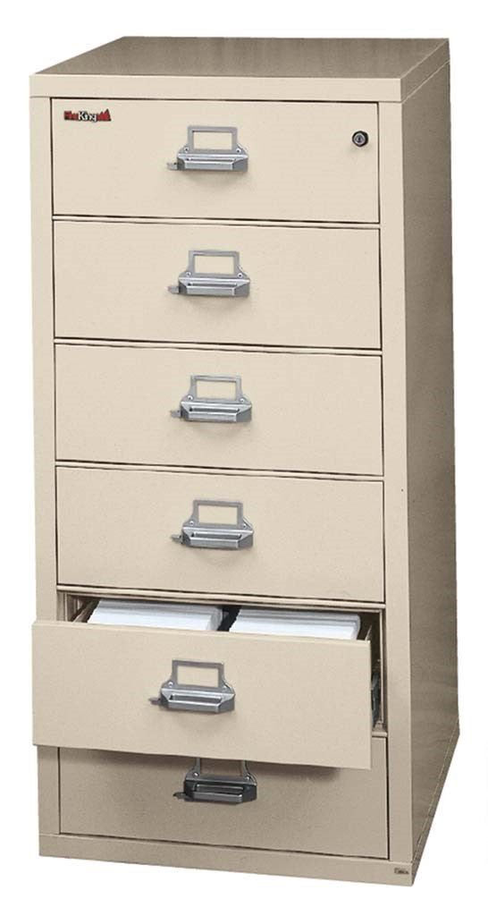 FireKing 6-2552-C Fireproof Six Drawer Card Check and Note Filing Cabinet