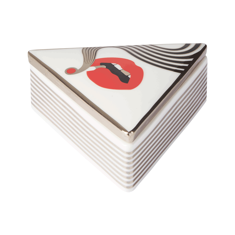 JONATHAN ADLER X HIGHER STANDARDS SMOLDER TRIANGLE BOX