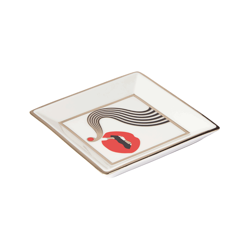 JONATHAN ADLER X HIGHER STANDARDS SMOLDER SQUARE TRAY