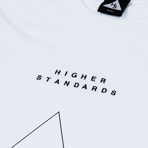 HIGHER STANDARDS EMBROIDERED TRIANGLE TEE