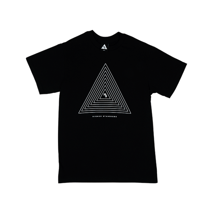 HIGHER STANDARDS TRIANGLE SCREEN-PRINTED COTTON TEE