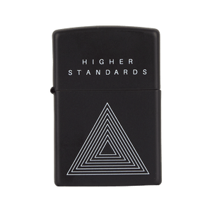 HIGHER STANDARDS X ZIPPO CONCENTRIC TRIANGLE LIGHTER