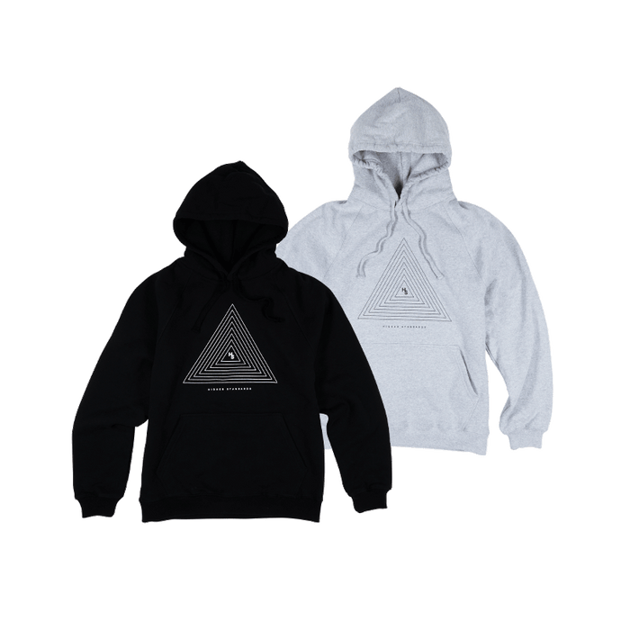 HS CONCENTRIC TRIANGLE HOODIE