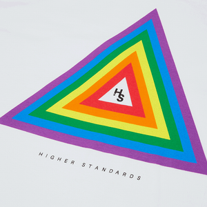 Higher Standards Pride Concentric Triangle Tee