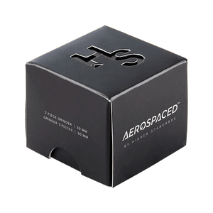 "Aerospaced By Higher Standards Grinder - 2 PC 2.0"" Black"