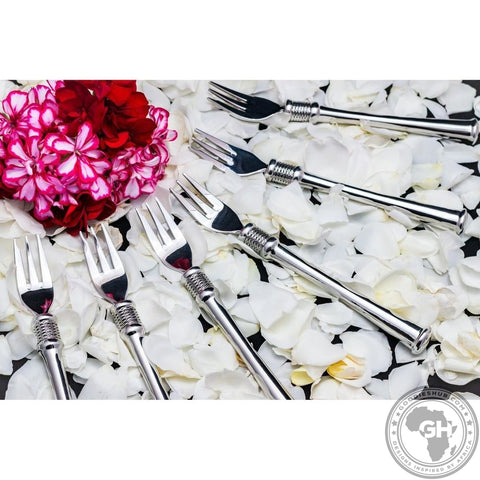 Cake Fork Set of 6 in Pouch - Noblesse Collection - Diana Carmichael - Goodieshub.com