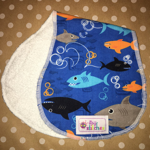 Boy Fishy Baby Doll Burp Cloth