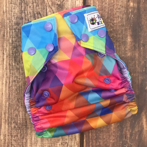 Rainbow Geo OS Pocket Diaper (with insert)