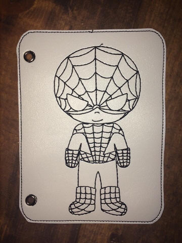 Spider Boy Vinyl Coloring Book Page Add-On