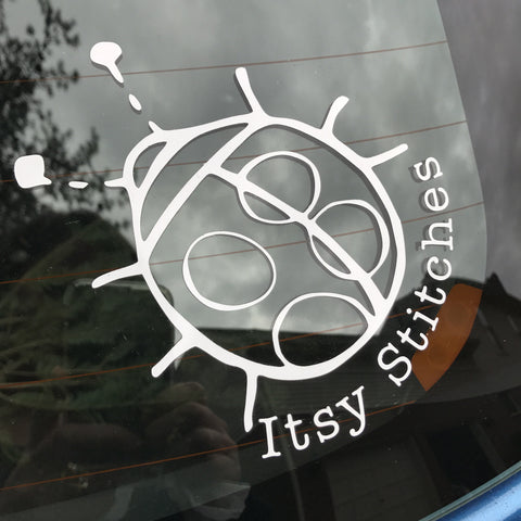 Itsy Stitches Vinyl Decal