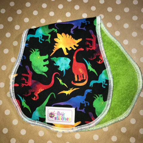 Colorful Dinosaurs Baby Doll Burp Cloth