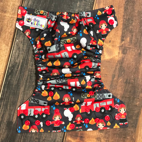 NEWBORN Firemen Pocket Diaper