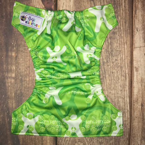 NEWBORN Green Intact Awareness Pocket Diaper