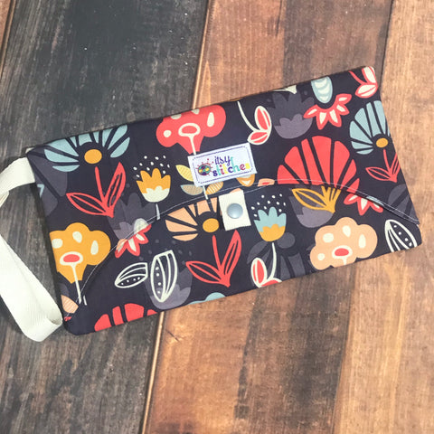 Autumn Flower Wipe Clutch