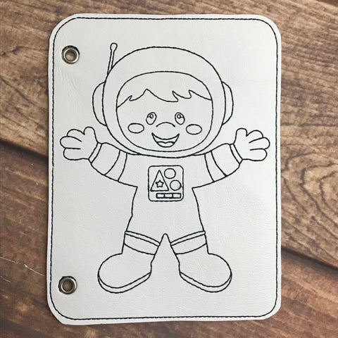 Astronaut Vinyl Coloring Book Page Add-On