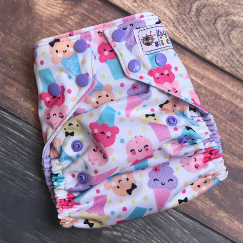 Summer Treats OS Pocket Diaper + Insert
