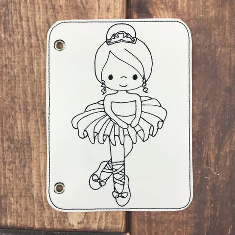 Ballerina Vinyl Coloring Book Page Add-On