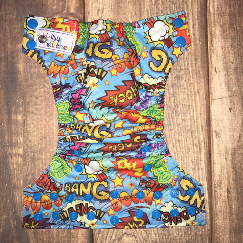 NEWBORN Bam Pow Pocket Diaper
