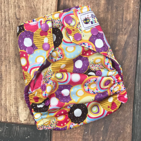 Pretty Donuts OS Pocket Diaper (with insert)