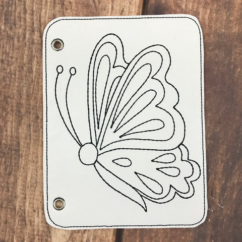 Beautiful Butterfly Vinyl Coloring Book Page Add-On