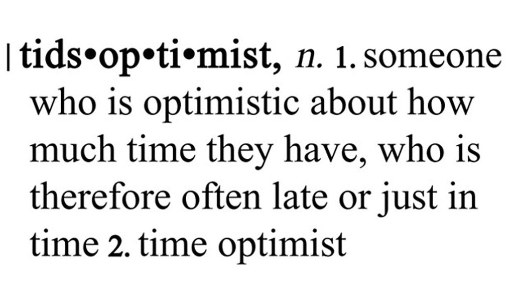 The Tidsoptimist
