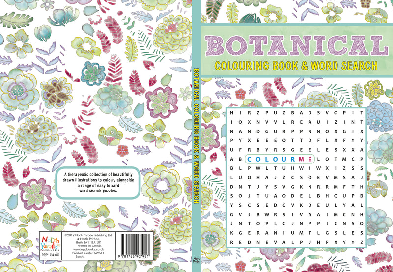 Book -  Mindful Colouring & Wordsearch for Adults