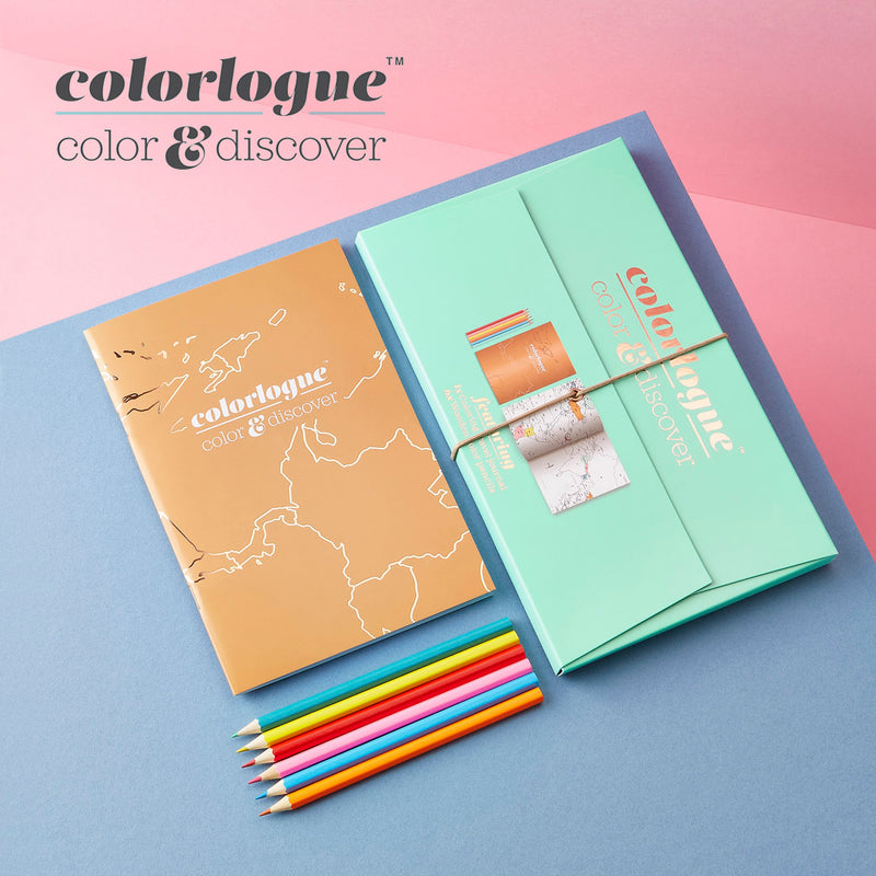Colourlogue - colouring travel book