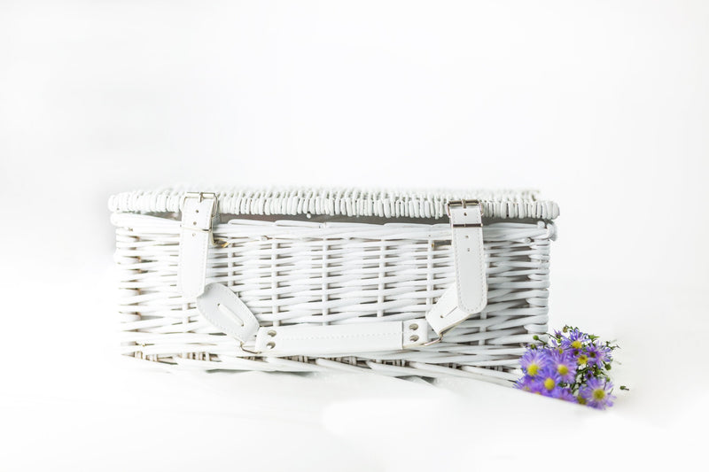 Optional white willow hamper basket