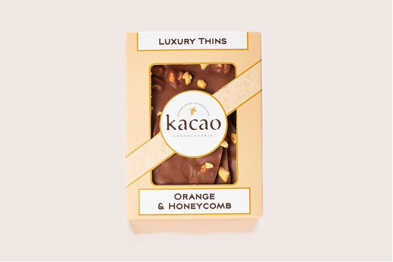 Orange & Honeycomb Chocolate Thins - Kacao