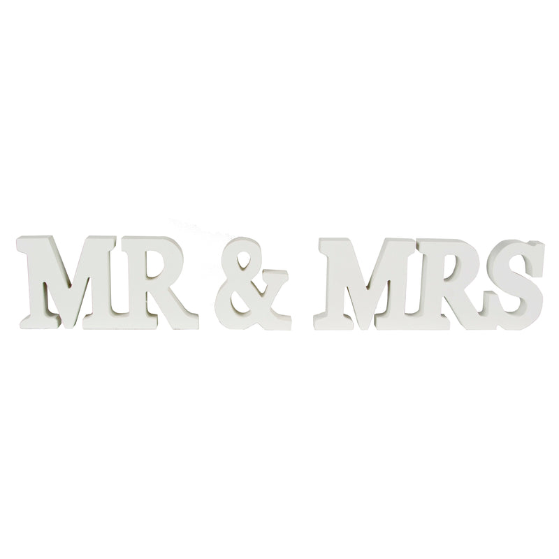 Mr & Mrs / Mr Wooden Letters