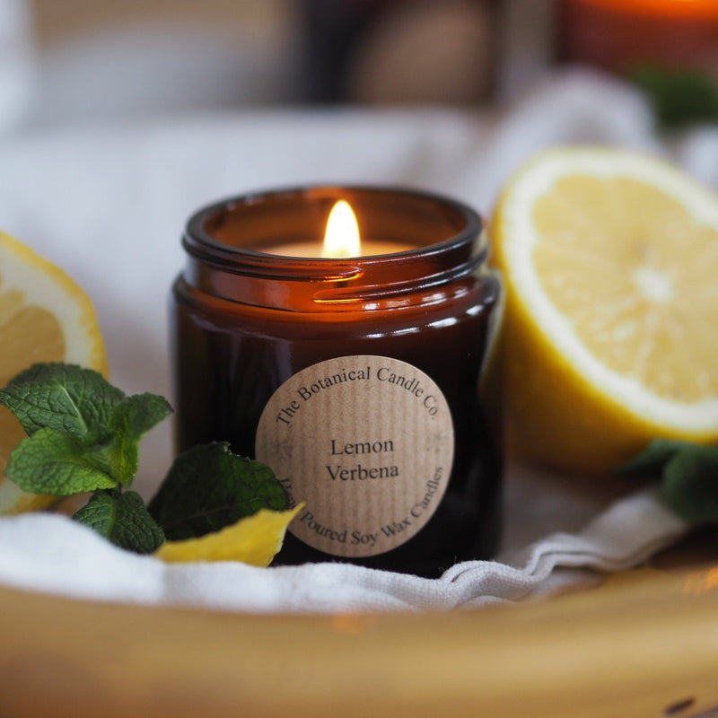 Lemon Verbana handpoured soy wax candle - Botanical Candle Co