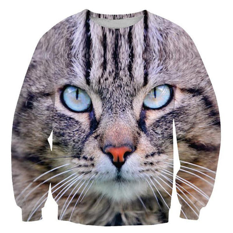 Cat Closeup Sweatshirt