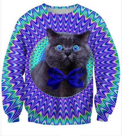 Freaky Bow Tie Cat Sweatshirt