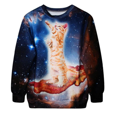 Out of Body Cat in Space Sweatshirt